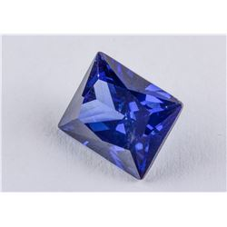Princess Cut 7.57 ct Blue Sapphire 11.01 x 8.96 mm
