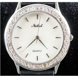Nobel Quartz Stainless Steel Analog Watch RV $150