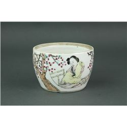 Famille Rose Porcelain Bowl w/Calligraphy Tongzhi