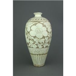 Chinese White Incised Porcelain Vase