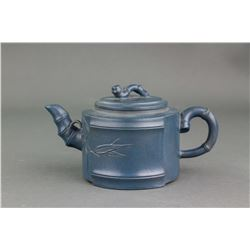 Chinese Fine Blue Zisha Teapot with Artist Mark
