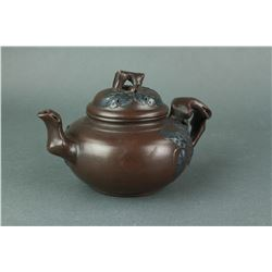 Chinese Zisha Tea Pot with Gu Shuifang Zhi Mark