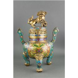 18th/19th Century Cloisonne Censer Xuande Mark