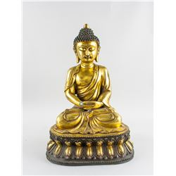 Gilt Bronze Shakyamuni Buddha Statue Yongle