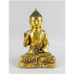 Chinese Gilt Bronze Medicine Buddha Yongle Mark