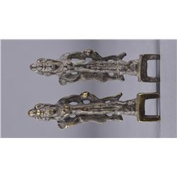 Pair of Tang Dynasty Bronze Buddhist Figures