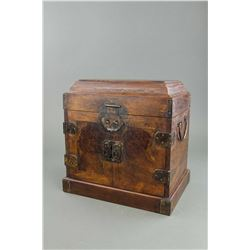Chinese Wood Treasure Box with Drawers