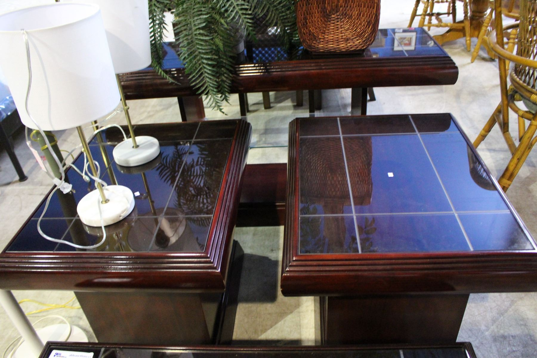 4 Piece Coffee Table Set Including Coffee Table Two End Tables And