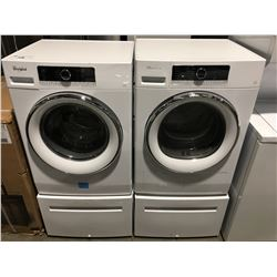 WHIRLPOOL WHITE FRONT LOAD WASHER & DRYER SET