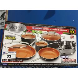 10 PCS GOTHAM STEEL COOKWARE SET
