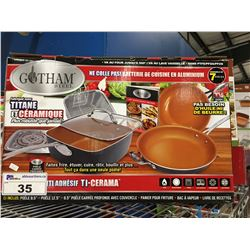 7 PCS GOTHAM STEEL COOKWARE SET