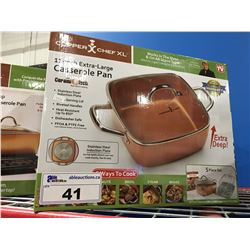 "COPPER CHEF XL  11"" CASSEROLE PAN"