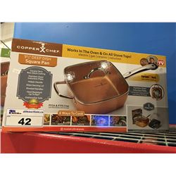 "COPPER CHEF 9 1/2"" DEEP DISH SQUARE PAN"