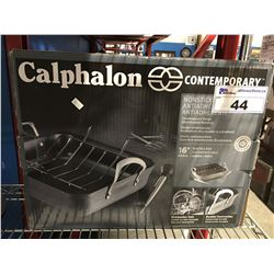 "CALPHALONE NON STICK 16"" ROASTER & RACK"