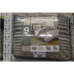 ALL-IN-ONE KING SIZE REVERSIBLE ROANOKE BED SET