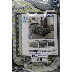MATTHEW 100% COTTON TWIN SIZE BED SET