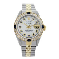 Rolex Pre-owned 26mm Womens Custom White Mother of Pearl Two Tone - REF-530R2M