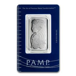 Genuine 1 oz 0.9999 Fine Platinum Bar - PAMP Suisse