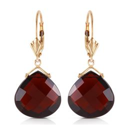 Genuine 17 ctw Garnet Earrings Jewelry 14KT Rose Gold - REF-48W9Y