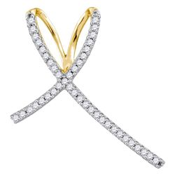 0.25 CTW Diamond Cross Pendant 10KT Yellow Gold - REF-14W9K