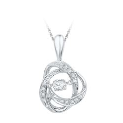 0.15 CTW Diamond Solitaire Pendant 10KT White Gold - REF-19W4K