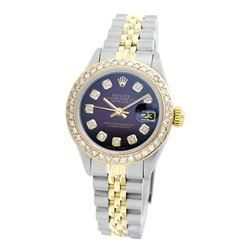 Rolex Pre-owned 26mm Womens Custom Brown Vignette Two Tone - REF-530X2K