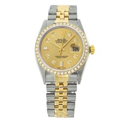 Rolex Pre-owned 36mm Mens Champagne Two Tone - REF-610H2N