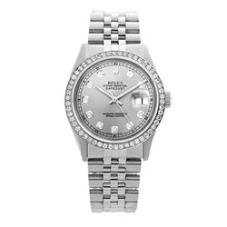 Rolex Pre-owned 36mm Mens Grey Stainless Steel - REF-580K2X