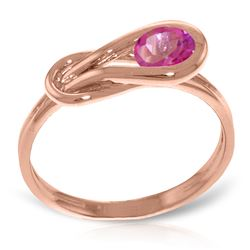 Genuine 0.65 ctw Pink Topaz Ring Jewelry 14KT Rose Gold - REF-47X2M