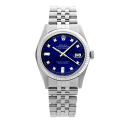 Rolex Pre-owned 36mm Mens Blue Dial Stainless Steel - REF-470X3K