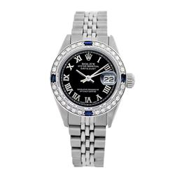 Rolex Pre-owned 26mm Womens Custom Black Stainless Steel - REF-460K2X
