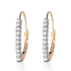 Genuine 0.30 ctw Diamond Anniversary Earrings Jewelry 14KT Yellow Gold - REF-48F9Z