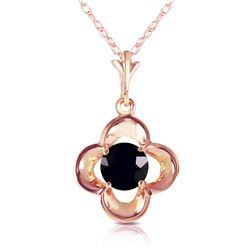 Genuine 0.50 ctw Black Diamond Necklace Jewelry 14KT Rose Gold - REF-51X5M