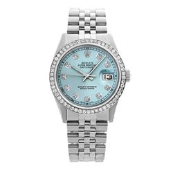 Rolex Pre-owned 36mm Mens Ice Blue Dial Stainless Steel - REF-580X3K