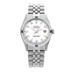 Rolex Pre-owned 36mm Mens White Stainless Steel - REF-580X2K