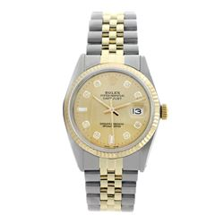 Rolex Pre-owned 36mm Mens Champagne Two Tone - REF-490H2N