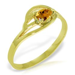 Genuine 0.30 CTW Citrine Ring Jewelry 14KT Yellow Gold - REF-30K5V