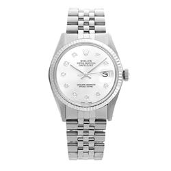 Rolex Pre-owned 36mm Mens White MOP Stainless Steel - REF-450N3H