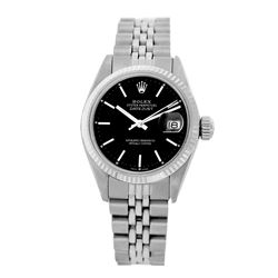 Rolex Pre-owned 26mm Womens Custom Black Dial Stainless Steel - REF-360M3R