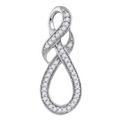 0.20 CTW Diamond WrapaInfinity Pendant 10KT White Gold - REF-14M9H