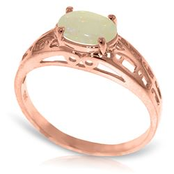 Genuine 0.45 ctw Opal Ring Jewelry 14KT Rose Gold - REF-29N7R