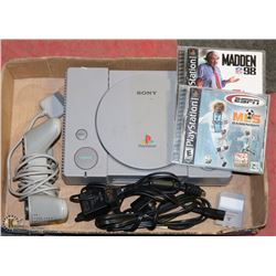 ORIGINAL SONY PLAYSTATION, INCL 2 GAMES, MEMORY