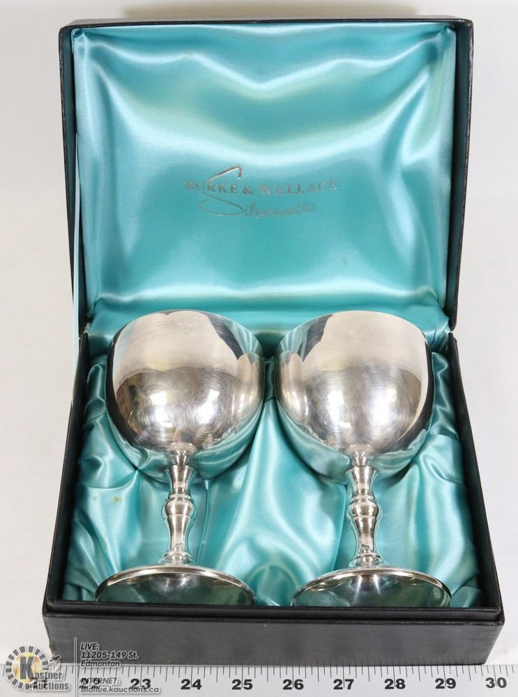 Burke wallace cup goblet set of 2 for Burke and wallace silversmiths