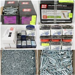 FEATURED ITEMS: ASSORTED CASES OF FASTENERS!