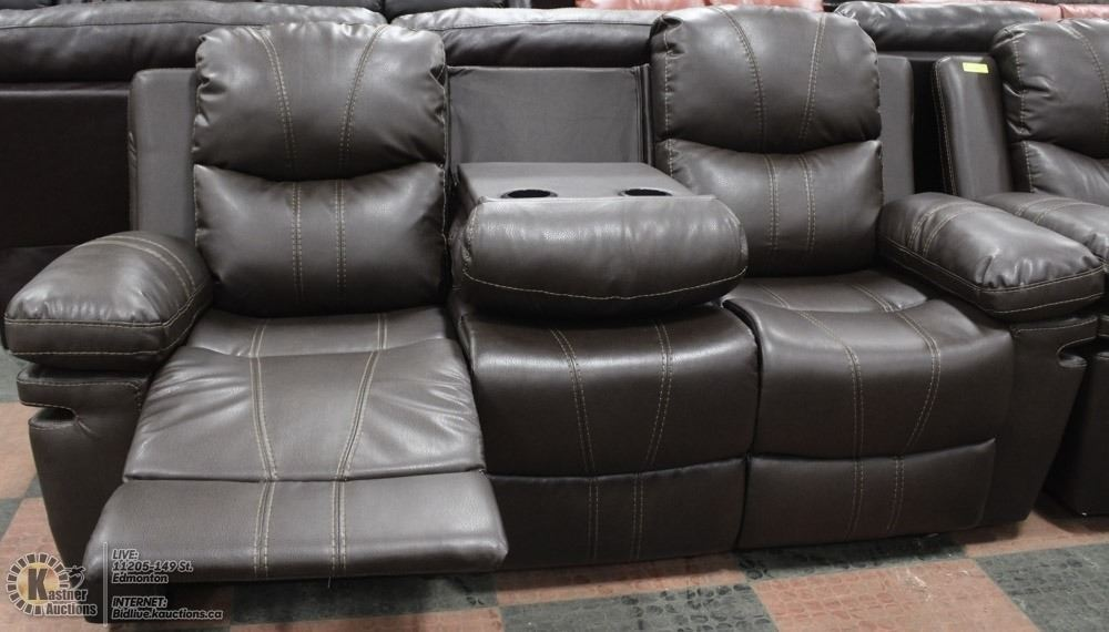 Image 2 New Norwich Brown 76 Reclining Sofa With