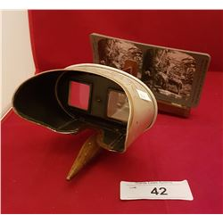 """ANTIQUE """"PERFECSCOPE"""" VIEWER DATED 1902"""