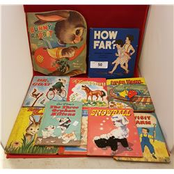 TEN 1940'S & 1950'S CHILDREN'S READERS BOOKS