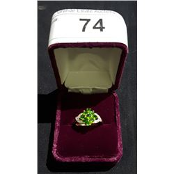 GOLD OVER STERLING SILVER CHROME DIOPSIDE RING