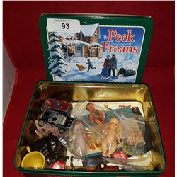 TIN OF VINTAGE COLLECTIBLES