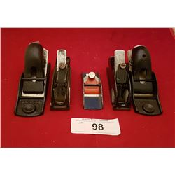 FIVE SMALL ANTIQUE HAND PLANES